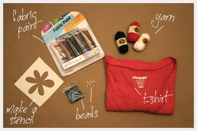 DIY Embellished T-Shirt Supplies