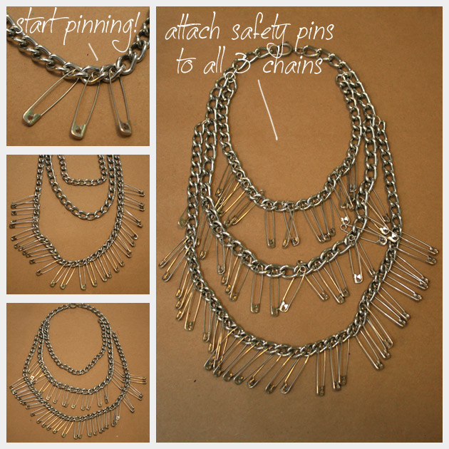How To Make A Triple Chain Statement Necklace DIY