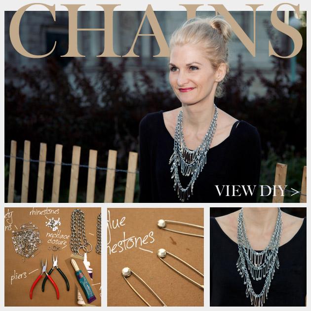 Triple Chain Statement Necklace DIY Feature