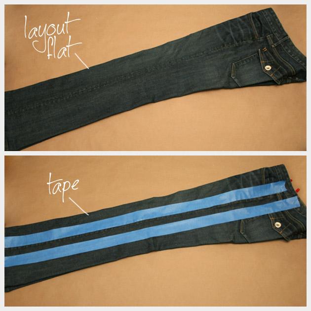Tuxedo Stripe Jeans DIY Tutorial