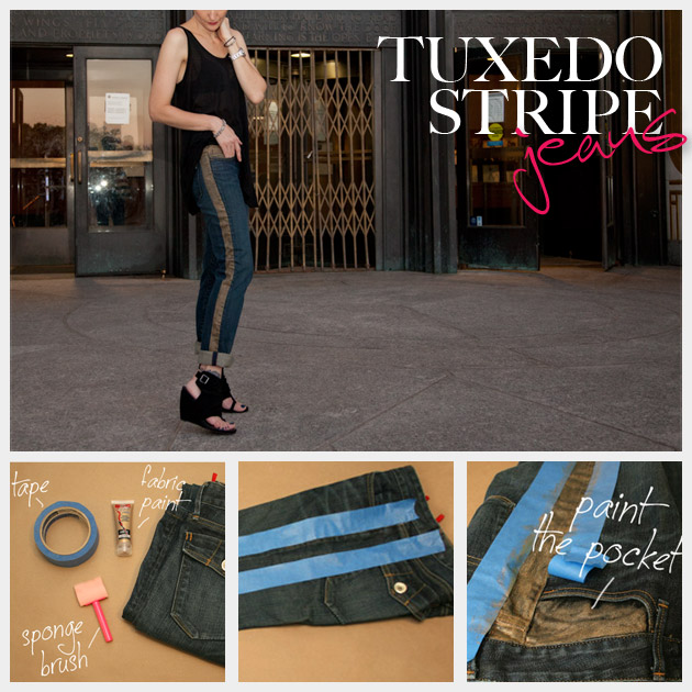 Tuxedo Stripe Jeans DIY Feature