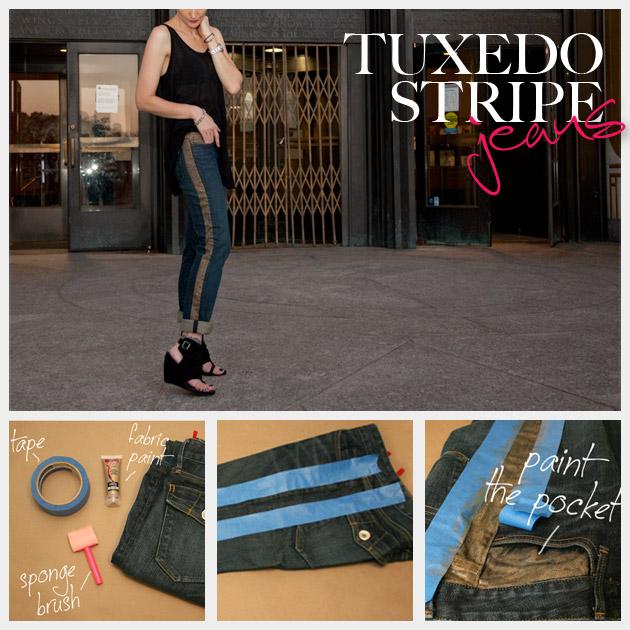 Tuxedo Stripe Jeans DIY Feature