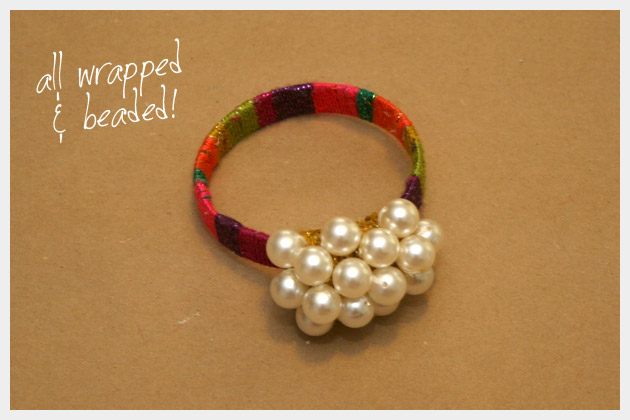 Wrapped and Beaded DIY Bracelet