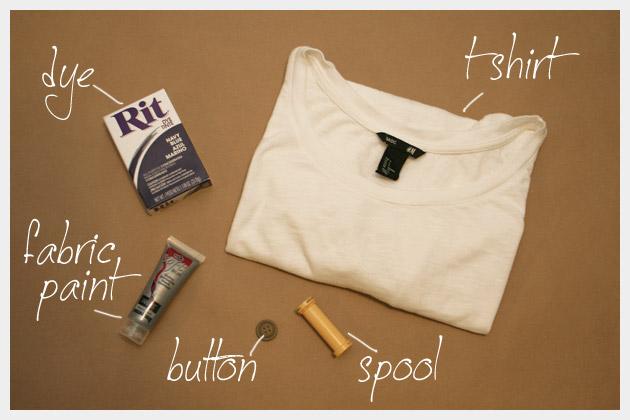 Dip Dye T Shirt DIY With Stamping Supplies