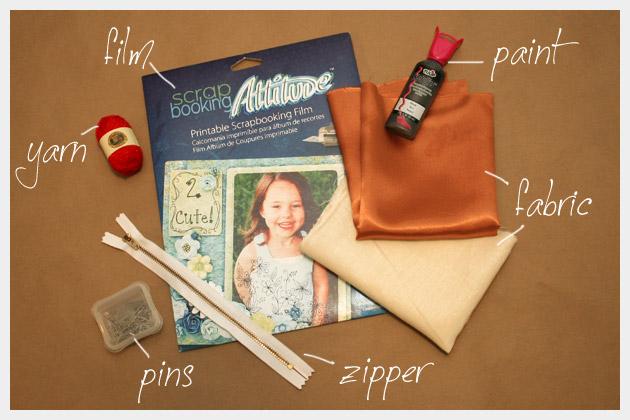 DIY Printed Make Up Bag Supplies