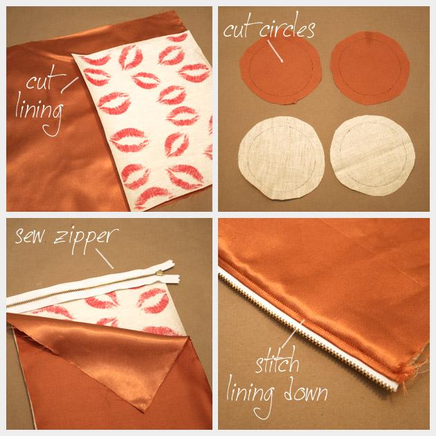 DIY Printed Make Up Bag Pattern