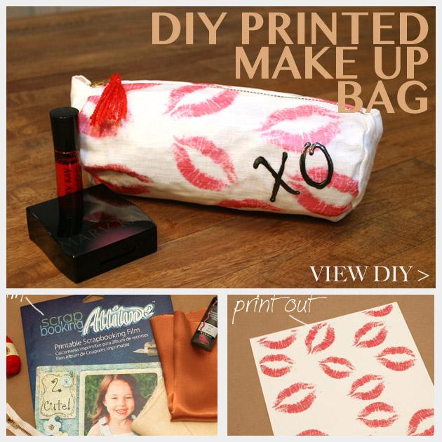 DIY Printed Make Up Bag Feature