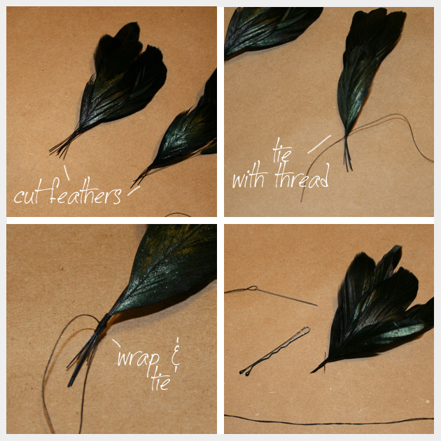 How to Make Feather Hair Pins