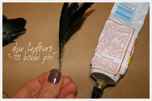 Feather Hair Pins DIY Project