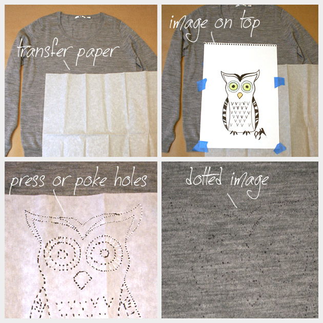 Owl Sweater DIY Transfer