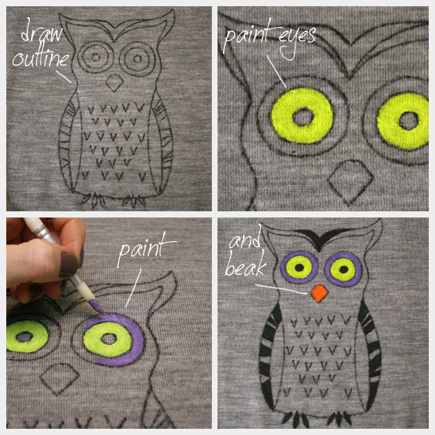 Owl Sweater DIY Painting