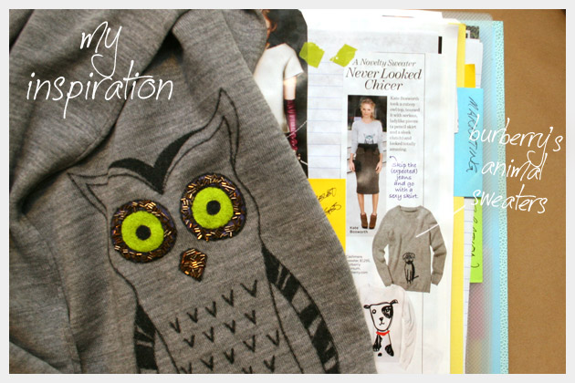 Owl Sweater DIY Inspiration Book