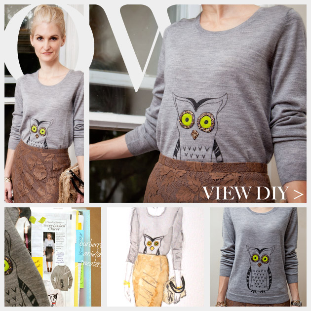 Owl Sweater DIY Feature