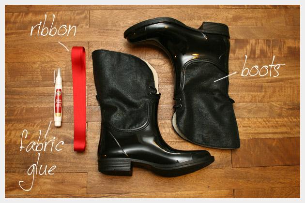 DIY Rain Boot Embellishment Supplies
