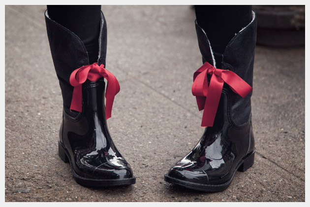Embellished Rain Boots DIY Close Up