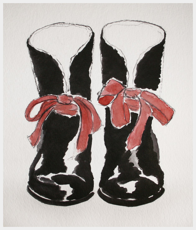 Embellished Rain Boots DIY Illustration