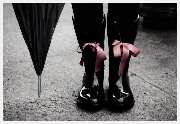 Embellished Rain Boots DIY Vintage
