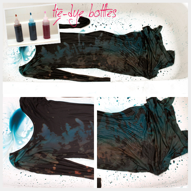 Resist Dye Long Black Dress DIY Dying Process