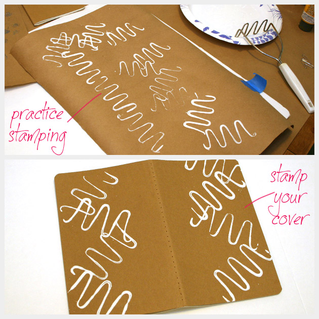 DIY Journal Stamping