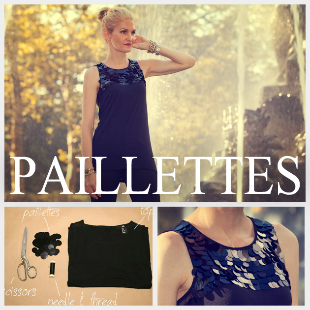 DIY T Shirt with Paillettes Feature