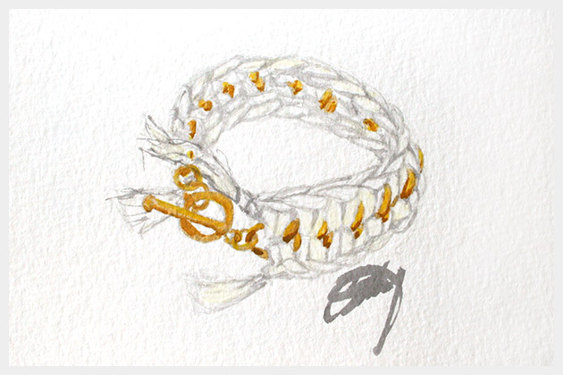 DIY Crochet Bracelet Illustration