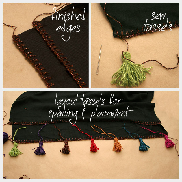 DIY Tassel Scarf Finishing