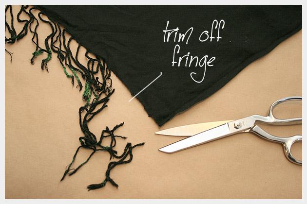 DIY Tassel Scarf Trimming