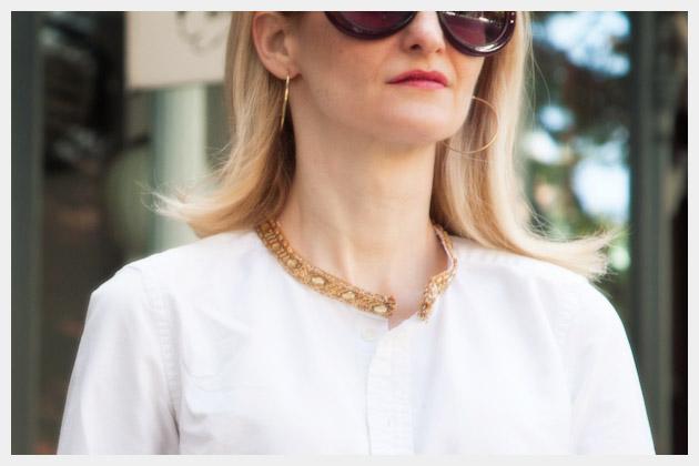 Embellished Shirt Collar Detail