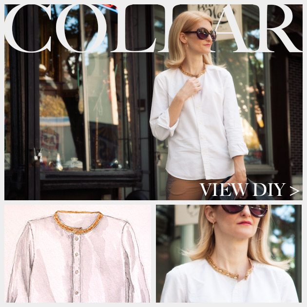 Embellished Shirt Collar Feature