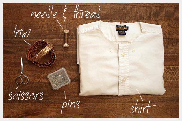 Embellished Shirt Collar Supplies
