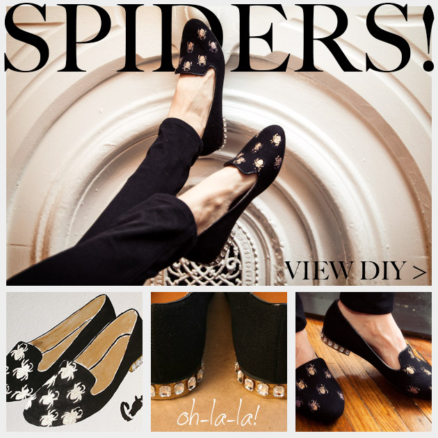 Halloween Spider Loafers DIY Feature