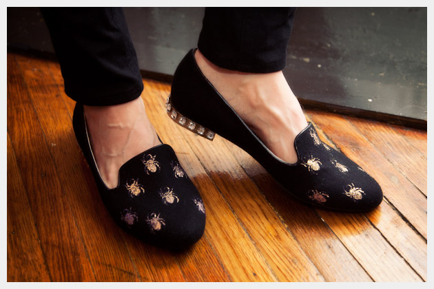 Halloween Spider Loafers DIY Photo
