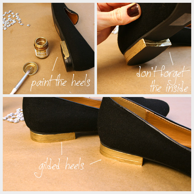 Хэллоуин паук Loafers DIY каблуках 1