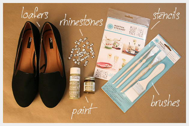 Halloween Spider Loafers DIY Supplies