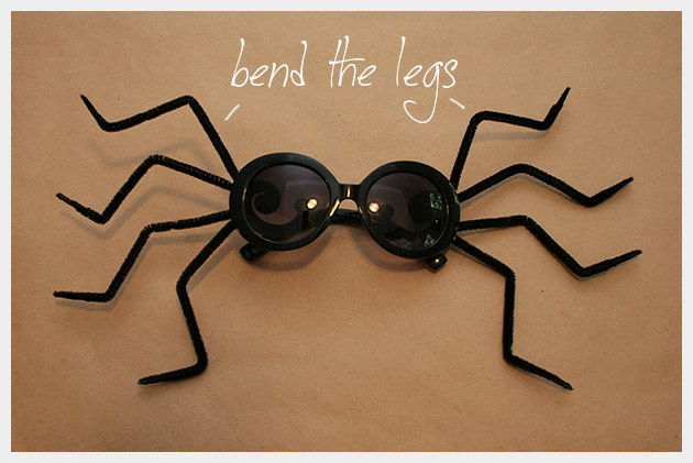 Halloween Sunglasses DIY Spider Glasses
