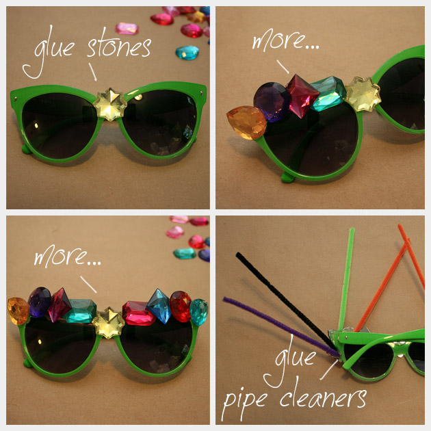 Halloween Sunglasses DIY MG Steps
