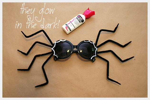 Halloween Sunglasses DIY Neon