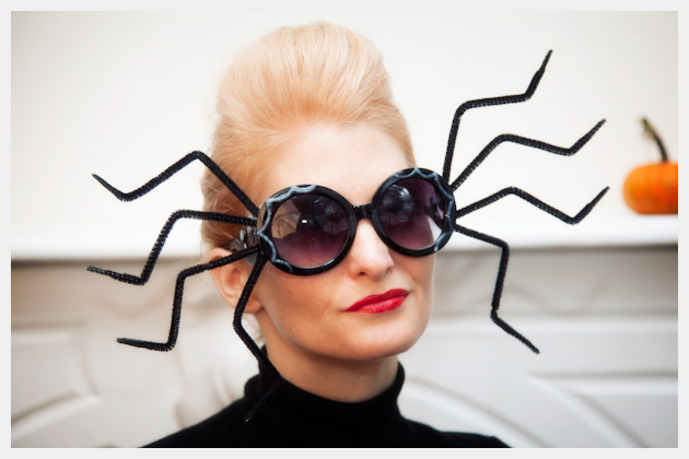 Halloween Sunglasses DIY Spider Photo