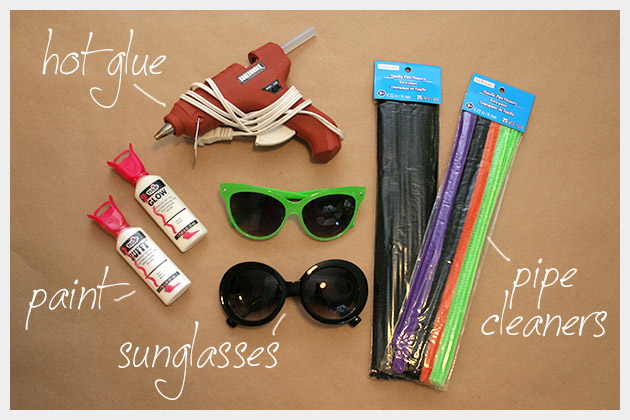 Halloween Sunglasses DIY Supplies