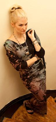 Resist Dye Long Black Dress DIY