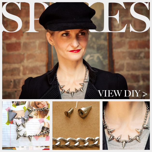Spike Chain Necklace DIY Feature