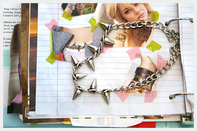 Spike Chain Necklace DIY Inspiration