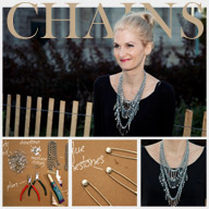 Triple Chain Statement Necklace DIY