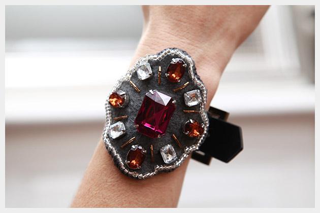 Baroque Bracelet DIY Detail