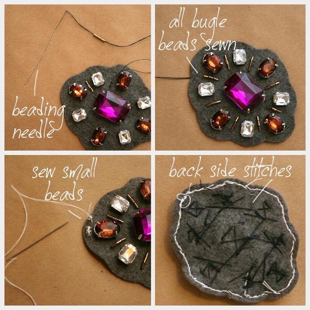 Barroco, pulsera de coser