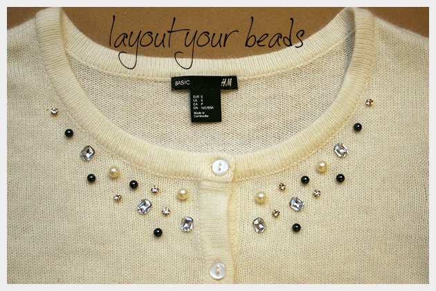 Beaded Sweater DIY Layout
