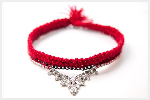 Braided Necklace DIY Photo
