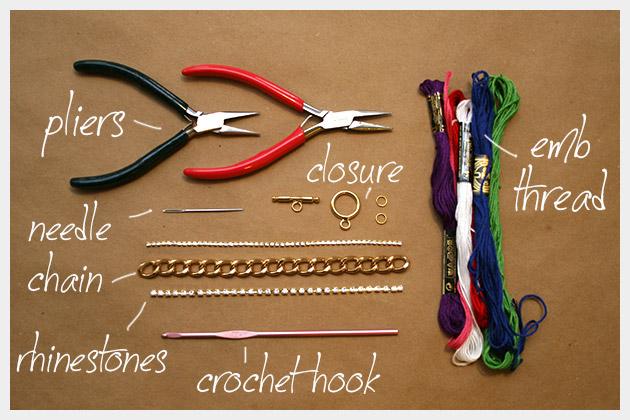 Chain and Rhinestone Bracelet DIY Supplies