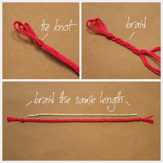 Chain and Rhinestone Bracelet DIY Braid