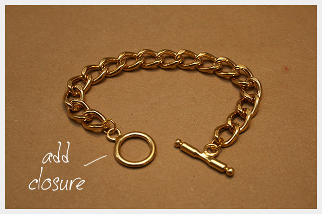 Chain and Rhinestone Bracelet DIY Closure